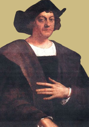 The Caribbean - Portrait of Christopher Columbus